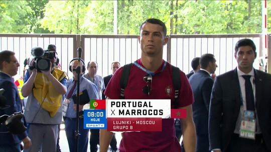 O melhor do mundo vem aí! Cristiano Ronaldo chega para segundo jogo da Copa