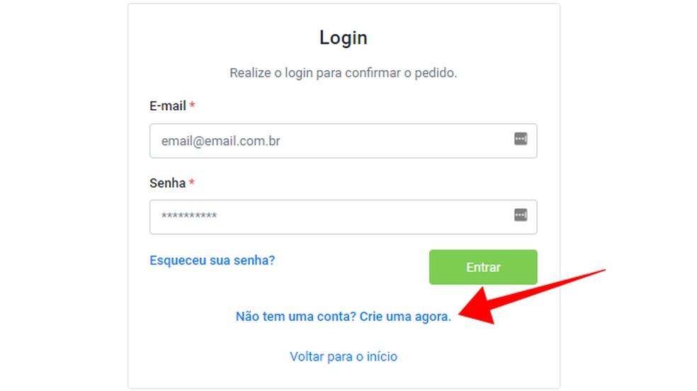 Crie uma conta no site Registro Civil — Foto: Reprodução/Paulo Alves