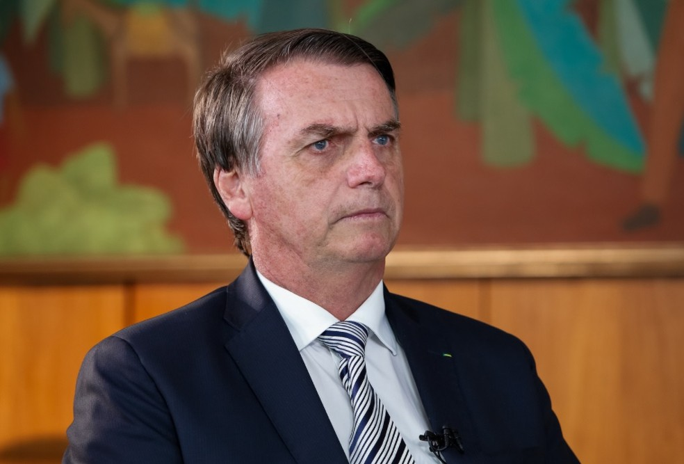 O presidente Jair Bolsonaro, no Palácio do Planalto — Foto: Alan Santos/PR