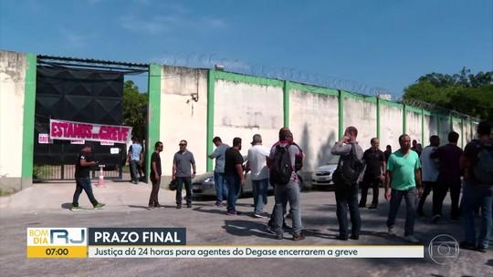 Justiça dá ultimato para agentes do Degase encerrarem greve