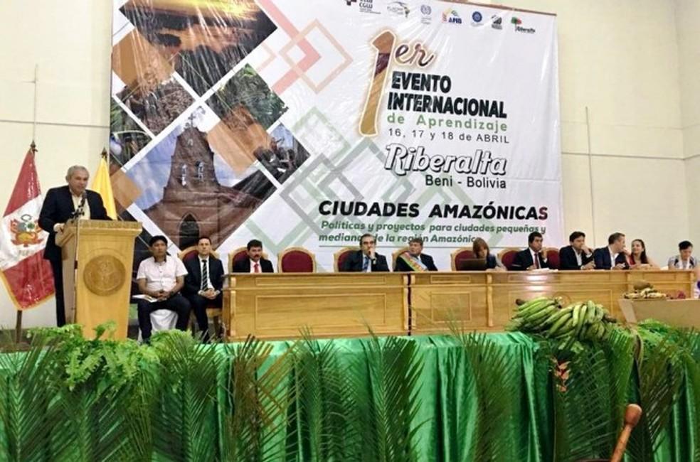-  Presidente da Famep e prefeito de Santarém, Nélio Aguiar, no 1º Encontro de Aprendizagem  Foto: Agência Santarém/Divulgação
