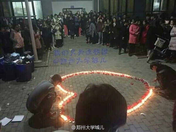 A iniciativa romântica atraiu dezenas de alunos no campus