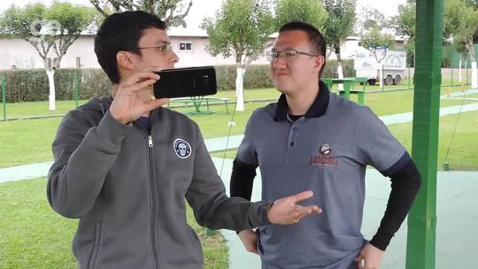 """Felipe Wu vê SC como referência no tiro esportivo: """"Se você sai daqui, é horrível"""""""