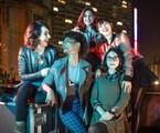 Gabriela Medvedovski, Ana Hikari, Manoela Aliperti, Heslaine Vieira e Daphne Bozaski em 'As five' | Fábio Rocha/Globo