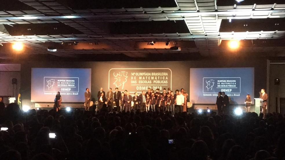 Cerimônia de premiação ocorreu no auditório de um hotel no bairro do Itaigara, em Salvador — Foto: Alan Tiago Alves/G1