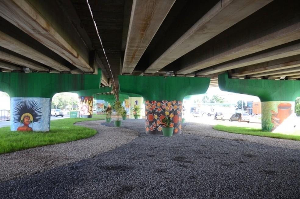 Obras na região do Viaduto da UFMT custaram R$ 5,85 milhões e foram concluídas no mês passado (Foto: Gustavo Duarte/Prefeitura de Cuiabá)