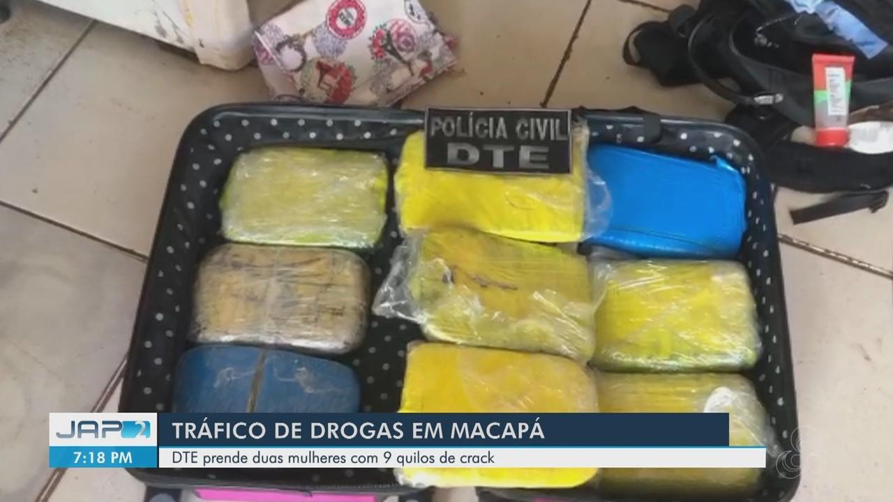 DTE, da Polícia Civil, prende duas mulheres com 9 quilos de crack em Macapá