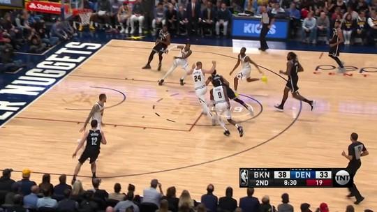 Nuggets voltam acesos do intervalo, viram sobre os Nets e sobem na Conferência Oeste