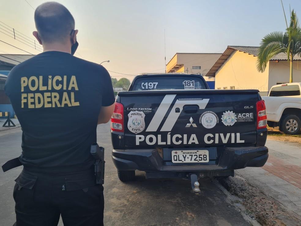 Operação integrada cumpre mais de 30 mandados contra organização criminosa em Cruzeiro do Sul — Foto: Arquivo/Polícia Federal