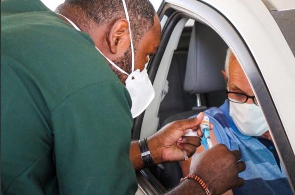 Vacinação Covid-19 em Divinópolis — Foto: Prefeitura de Divinópolis/Divulgação