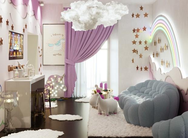 A Unicorn House estará disponível por 3 dias durante a semana de design de Milão (Foto: Divulgação)