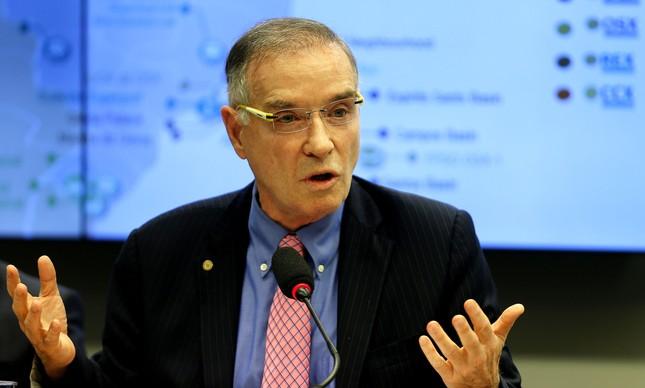 O empresário Eike Batista na CPI do BNDES