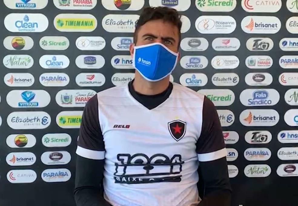 Donato foi titular do Botafogo-PB na reta final da Série C — Foto: Reprodução / TV Cabo Branco