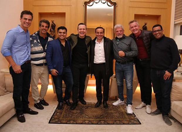Carlos Casagrande, Álvaro Garnero, Rafa Prado, Celso Zucatelli, Sandro Augusto, Raul Gazolla, Domi Müller e Slim Fsili (Foto: Deividi Correa/ Divulgação)