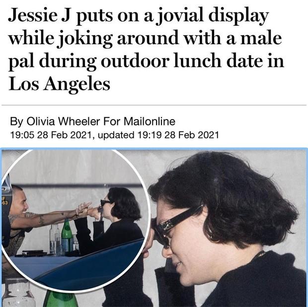 Jessie J e o novo namorado, Max Pham (Foto: Reprodução / Daily Mail)