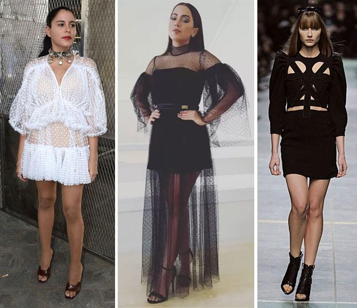 Marina Morena, Anitta e Ana Claudia Michels com looks das diferentes fases de Tisci no comando da Givenchy (Foto: Reprodução)