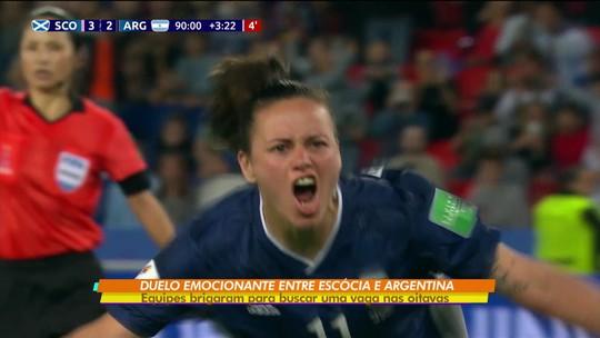 Argentina e Escócia fazem duelo emocionante e ainda brigam por vaga nas oitavas da Copa do Mundo feminina