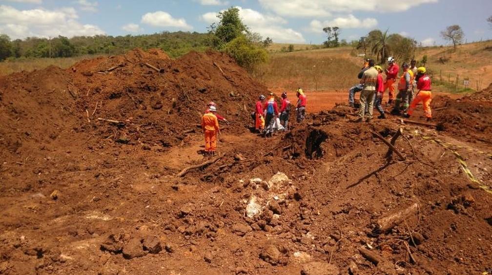 Bombeiros encontram mais um corpo em Brumadinho — Foto: Corpo de Bombeiros/Divulgação