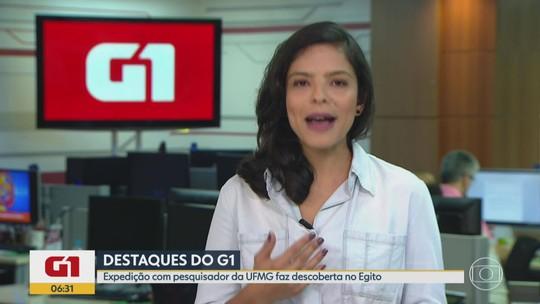G1 MG no BDMG: equipe coordenada por pesquisador da UFMG descobre tumba no Egito
