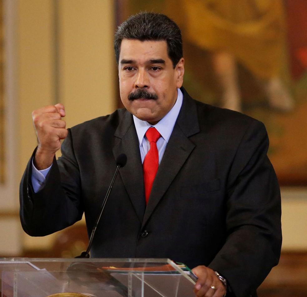 """Maduro advertiu Trump que o país caribenho responderia com """"fuzis em Nova York"""" e tomaria a Casa Branca no caso de uma invasão militar americana (Foto: Reuters/Marco Bello)"""