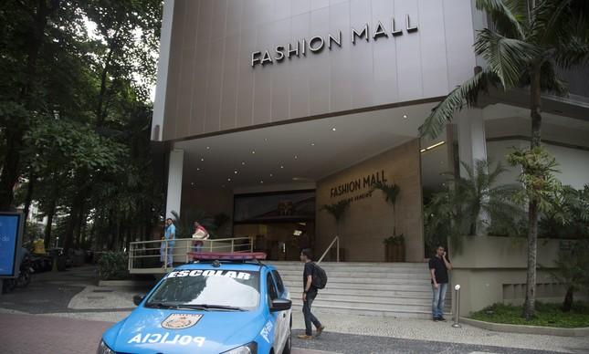 O Fashion Mall, depois do assalto