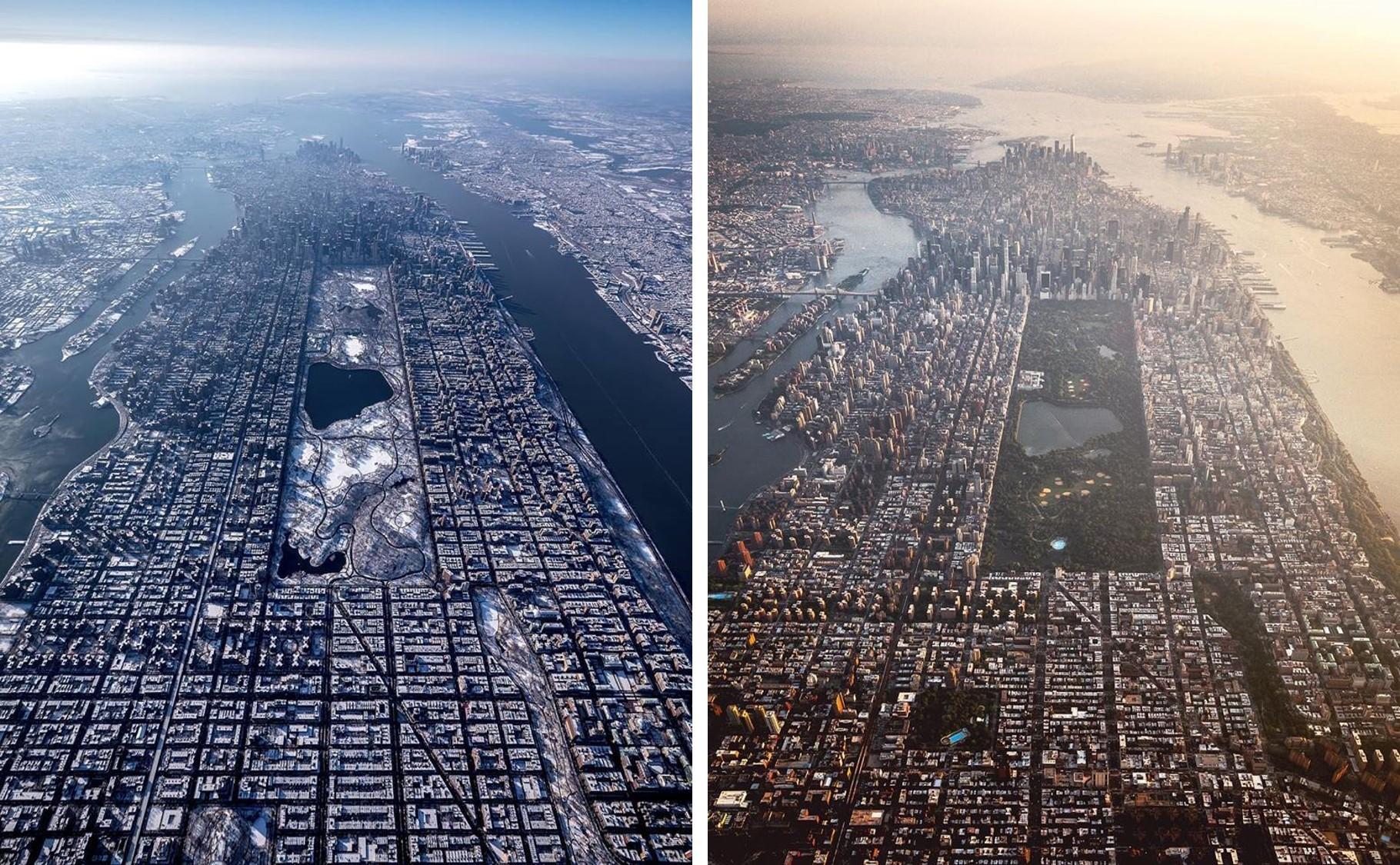 As duas fotos foram clicadas de diferentes alturas: ao todo, foram quase 300 metros de diferença (Foto: Reprodução/Facebook /Paul Seibert Photography )