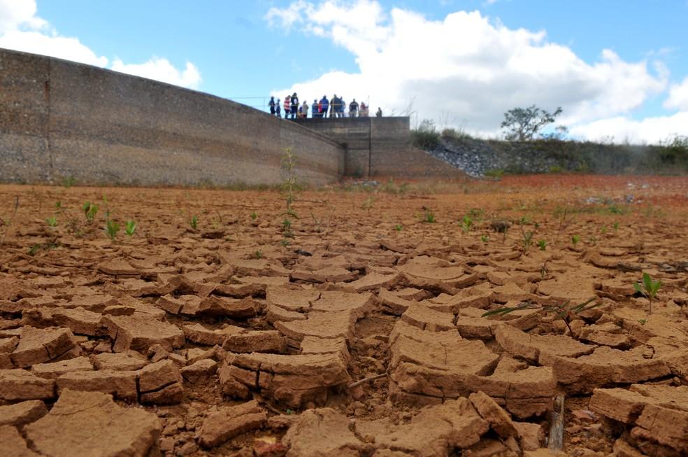 Reservatório de Santa Maria em 2017, ano de racionamento de água no Distrito Federal — Foto: Tony Winston/Agência Brasília
