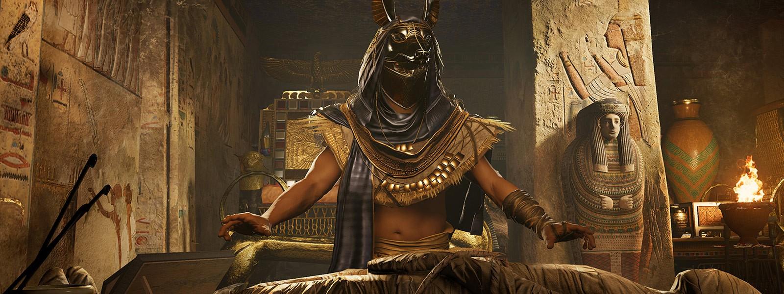 Egypt Warrior Illustration Anubis Pyramid Fantasy Art: Assassin's Creed: Origins