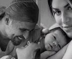 Bruno Gagliasso, Giovanna Ewbank e Zyan no registro publicado pela artista nas redes sociais | Reprodução/Instagram Giovanna Ewbank