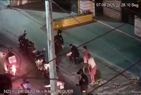 Bebê de três meses é salva por policiais após engasgar em Fortaleza