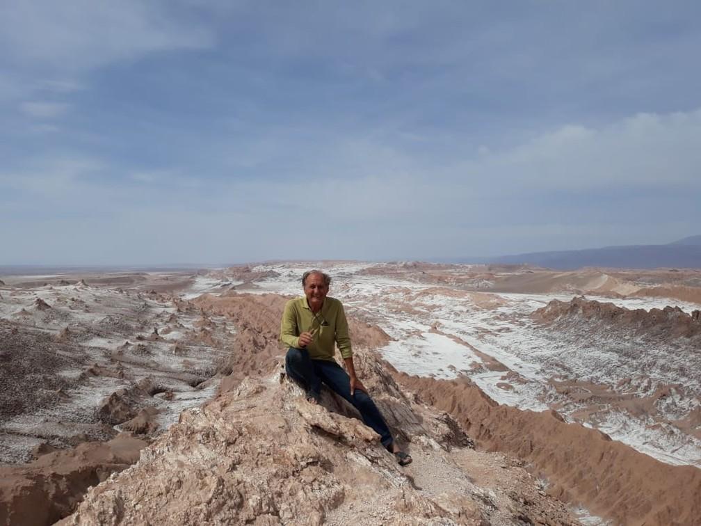 Vale de la Luna, em San Pedro de Atacama, no Chile — Foto: Arquivo pessoal/Alberto Carlos Fröhlich