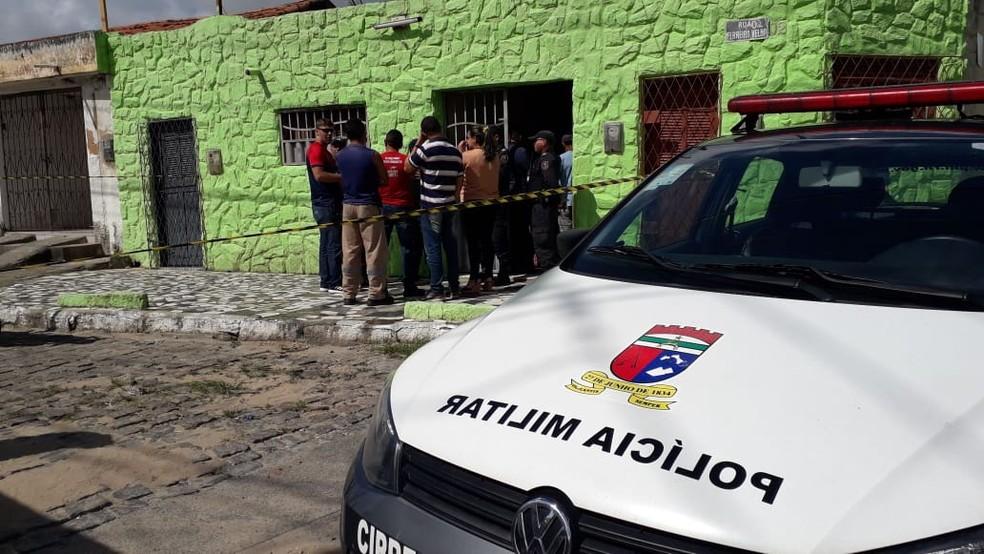 PM foi morto a tiros no bairro Bom Pastor, em Natal — Foto: Klênyo Galvão/Inter TV Cabugi