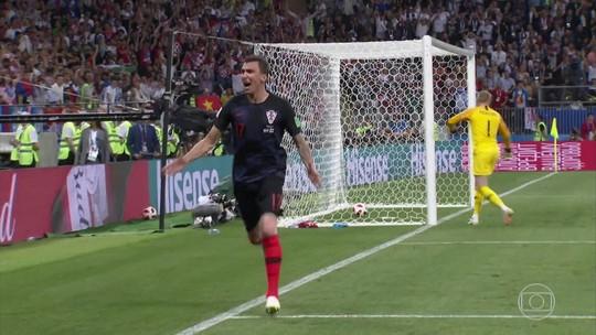 Veja como foi a vitória da Croácia sobre a Inglaterra na semifinal da Copa