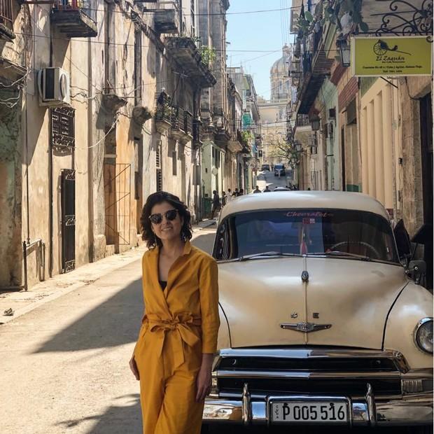 A editora sênior Ana Carolina Ralston nas ruas de Havana Vieja (Foto: divulgação)
