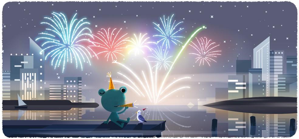Véspera De Ano Novo 2020 Google Celebra Réveillon Com