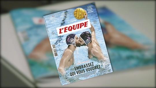 Matéria mostra as reações dos franceses a uma edição especial da revista do L´Equipe dedicada à homofobia