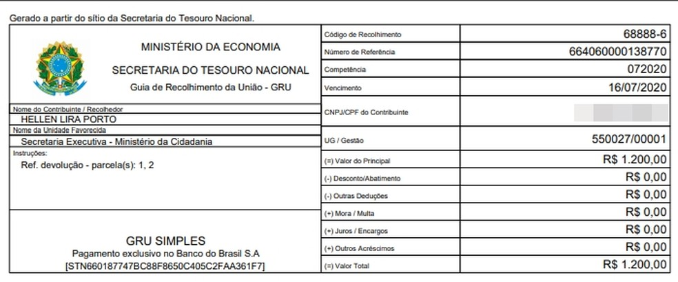 Prefeito de Maiquinique afirmou ter devolvido dinheiro do auxílio ao governo federal — Foto: Arquivo pessoal