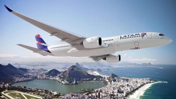 Novo design dos aviões da Latam (Foto: Divulgação)
