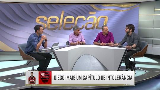 """J. Pernambucano, sobre Diego: """"Preferiu dizer que não doeu, mas estava no olhar"""""""