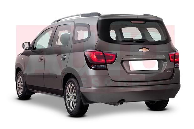 Traseira da Chevrolet Spin passará a ter lanternas espichadas na horizontal (Foto: Renato Aspromonte/Autoesporte)