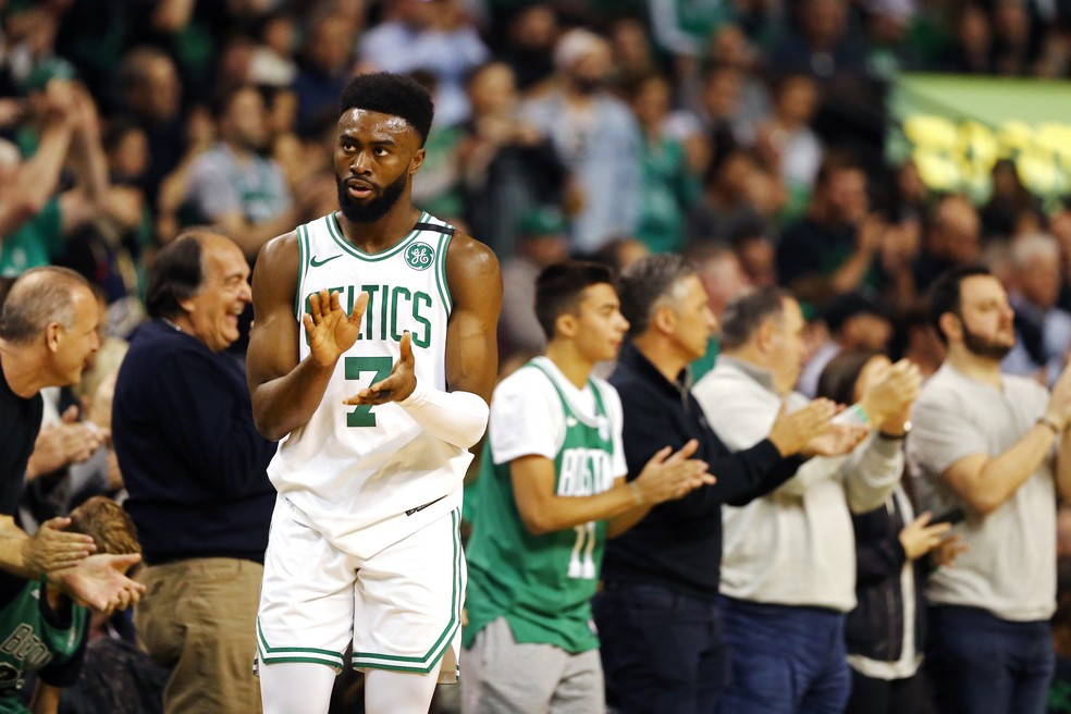 Jaylen Brown foi o cestinha da partida (Foto: Maddie Meyer/Getty Images)