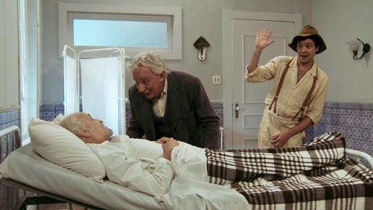 Candinho e Pancrácio encontram padre que casou Anastácia