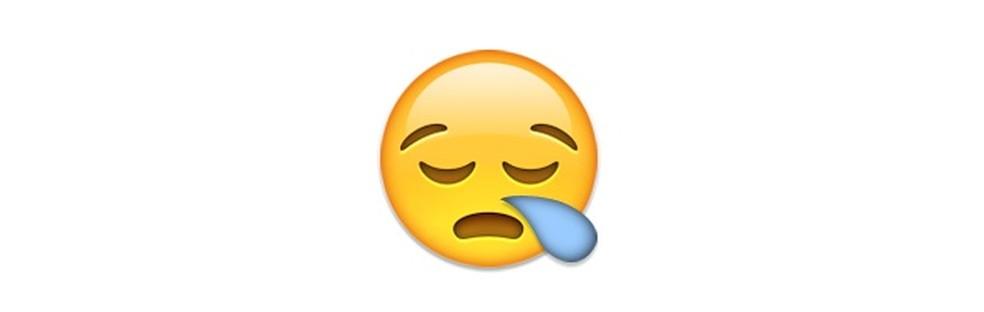 Emoji sonolento em dias de doença — Foto: Reprodução/TechTudo