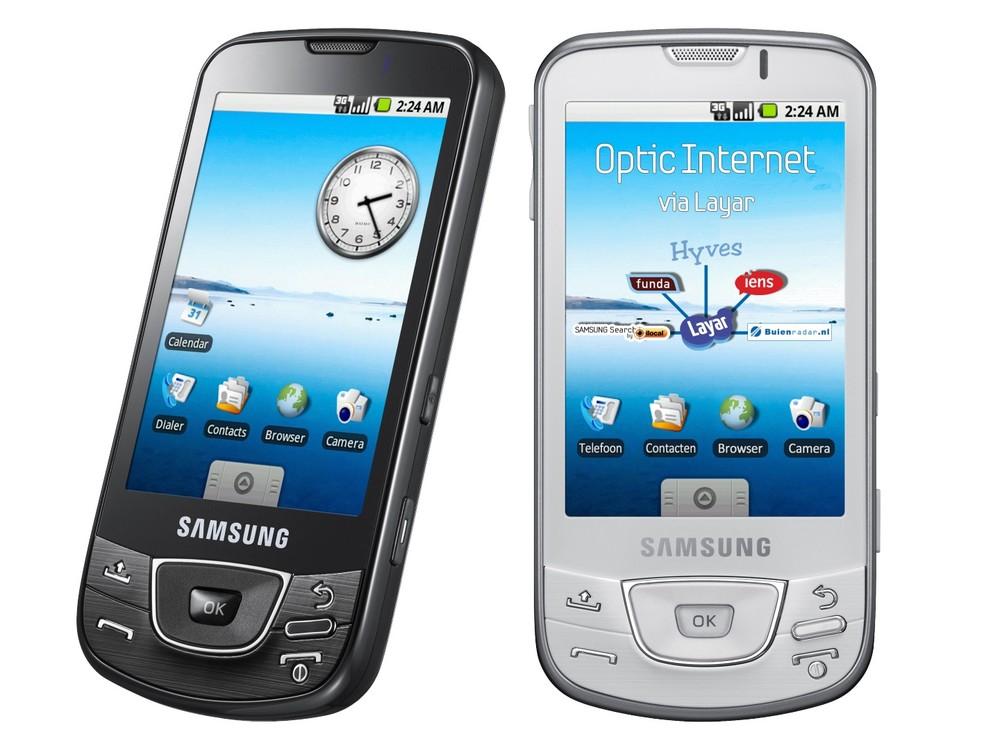 Primeiro Galaxy chegou em 2009 com tela touch, mas tinha jeitão de celular convencional â?? Foto: Divulgação/Samsung