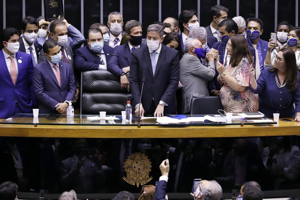 Dep. Arthur Lira (PP - AL) é eleito novo presidente da Câmara. — Foto: Cleia Viana/Câmara dos Deputados