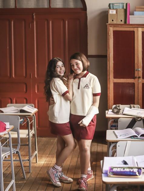 Marina (Laís Villela) e Mônica (Giulia Benite) em 'Turma da Mônica - Lições' (Foto: Serendipity Inc)