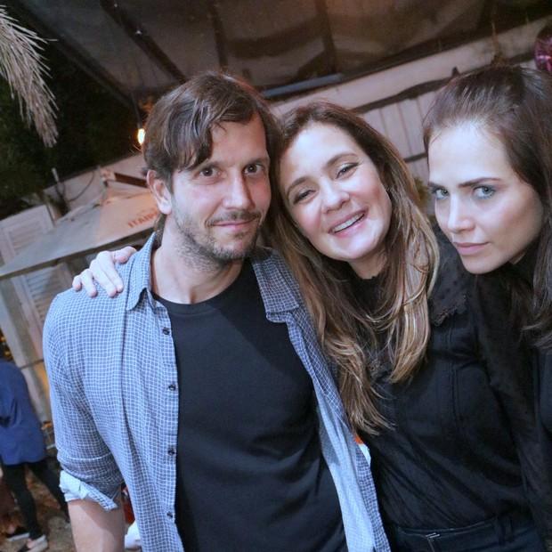 Adriana Esteves, Vladimir Brichta e Letícia Colin  (Foto:  DERICK ABREU / AgNews)