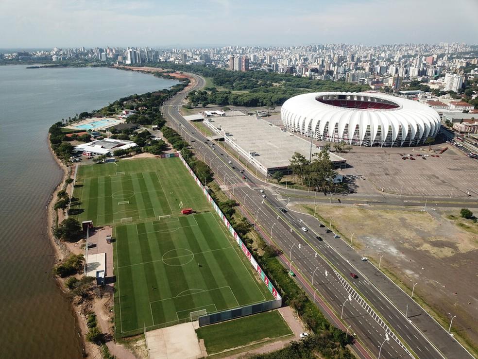 CT Parque Gigante e Beira-Rio serviriam para sediar jogos — Foto: Internacional / Divulgação