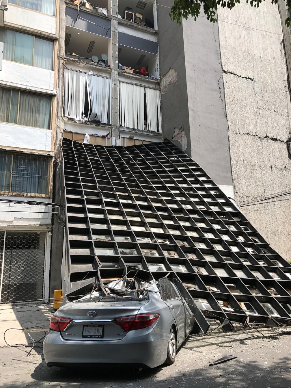 Prédio danificado na Cidade do México (Foto: Claudia Daut/Reuters)