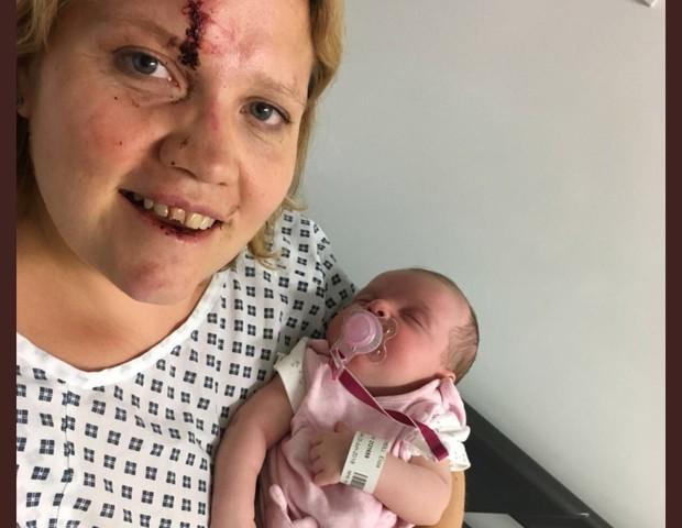 mãe assaltada com recém-nascido (Foto: Reprodução Instagram)